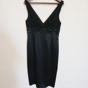 David Meister Black Silk Sleeveless Dress 12